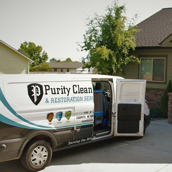 Purity Cleaning carpet cleaning service van