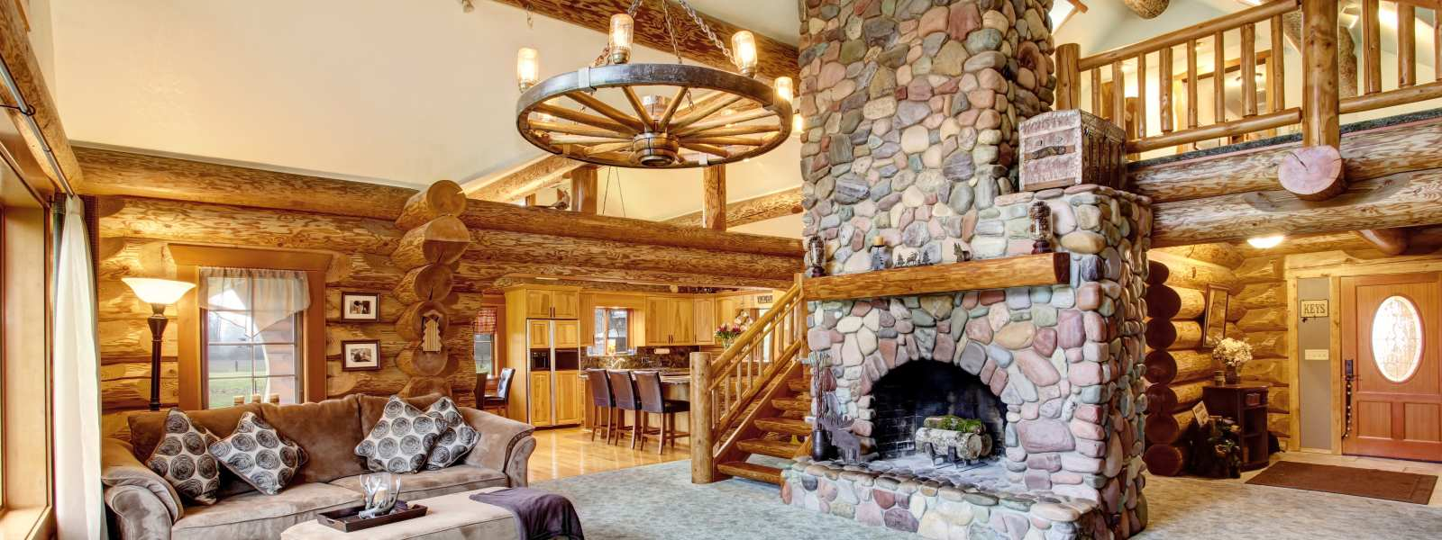 Beautifully decorated log home