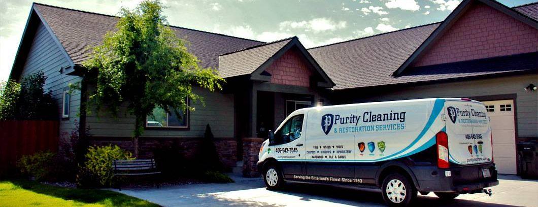 Purity carpet cleaning van