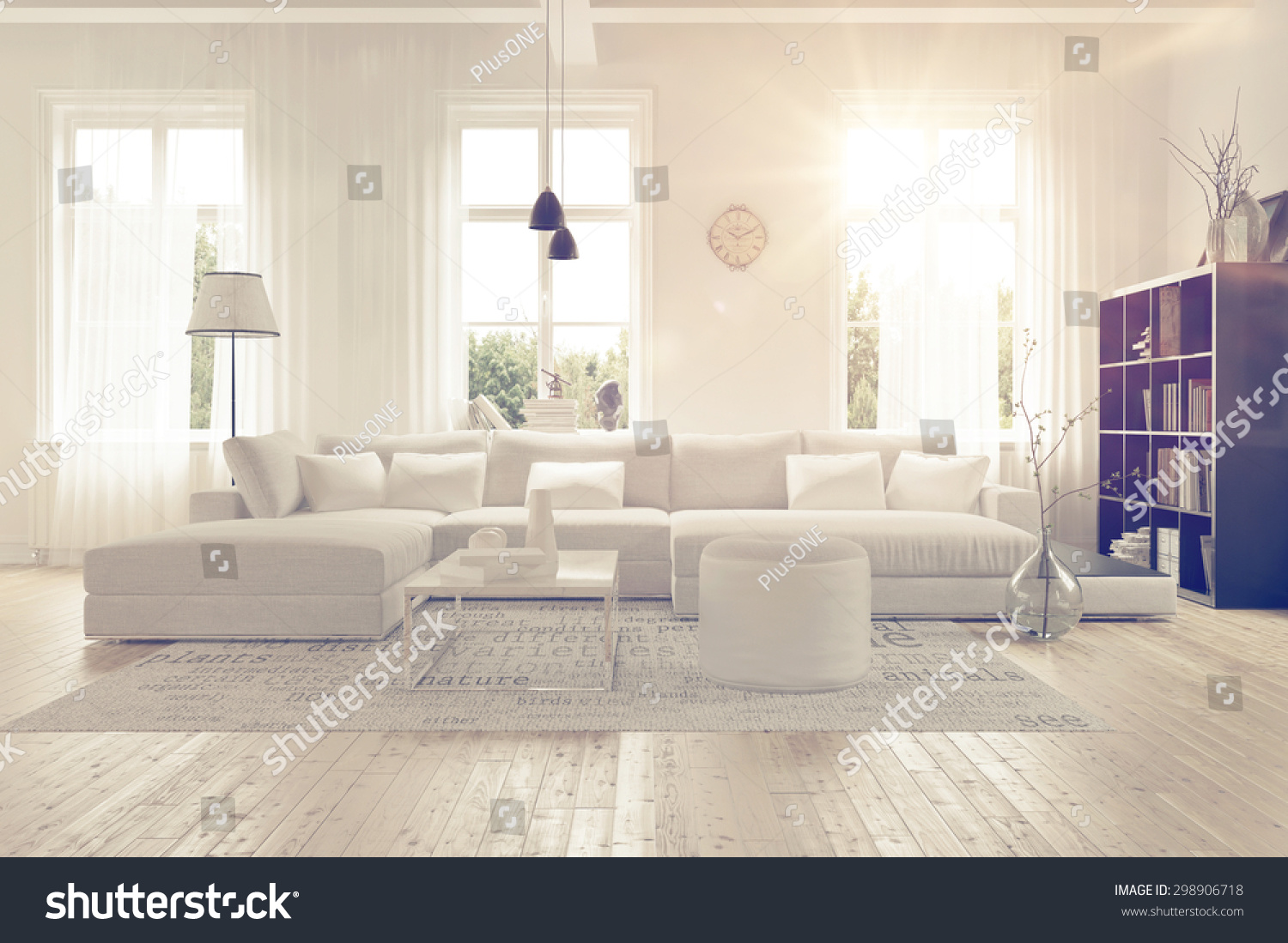 stock-photo-modern-spacious-lounge-or-living-room-interior-with ...